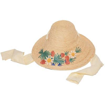 Wildflower Embroidered Straw Hat