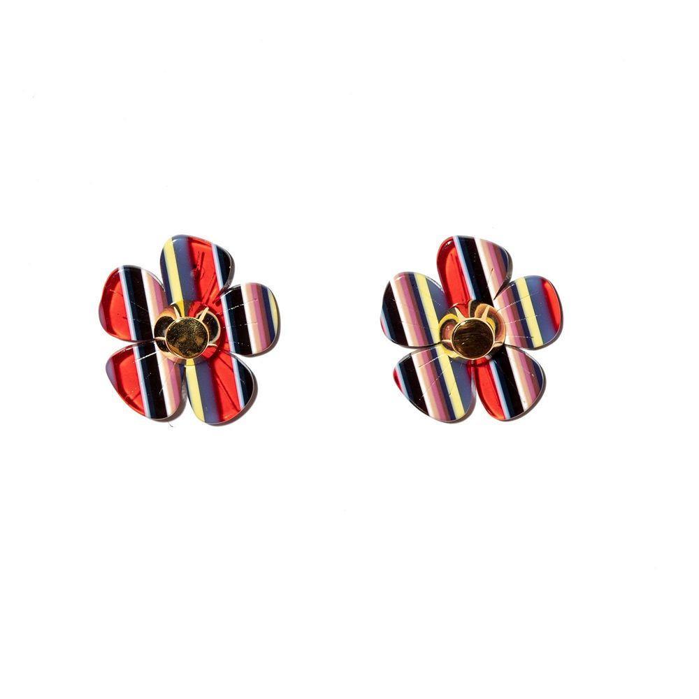 Cherry Blossom Button Earrings Item # LS1110CS