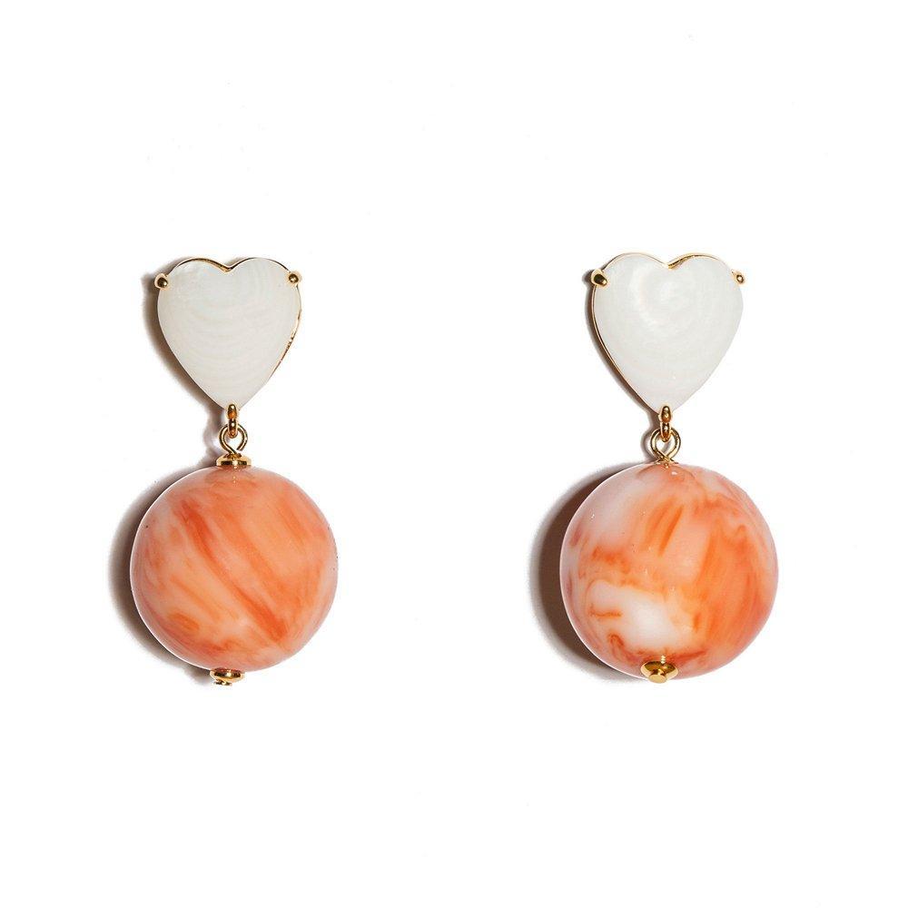 Half Court Heart Earrings