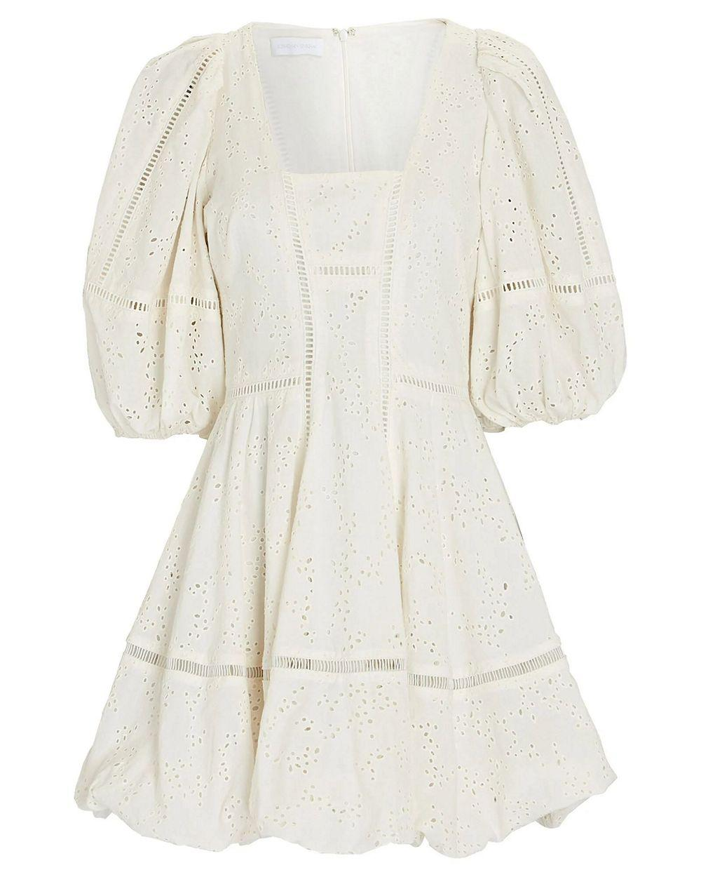 Brynn Broderie Anglaise Mini Dress