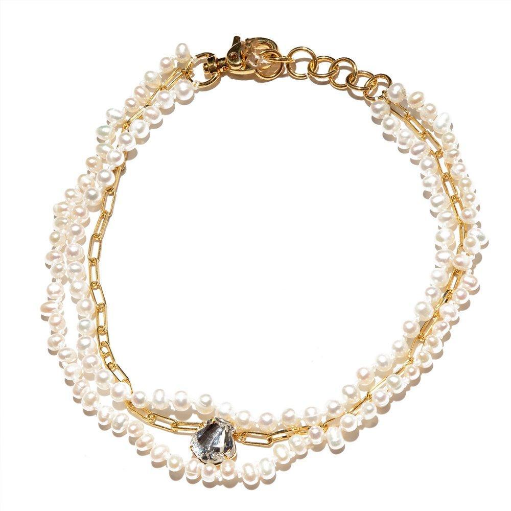 Swarovski Crystal Shell Necklace Item # LS1029MP