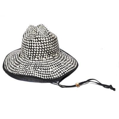 Straw Checkered Hat