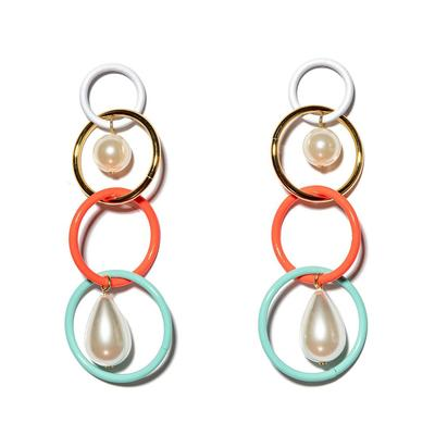 Teardrop Linear Earrings