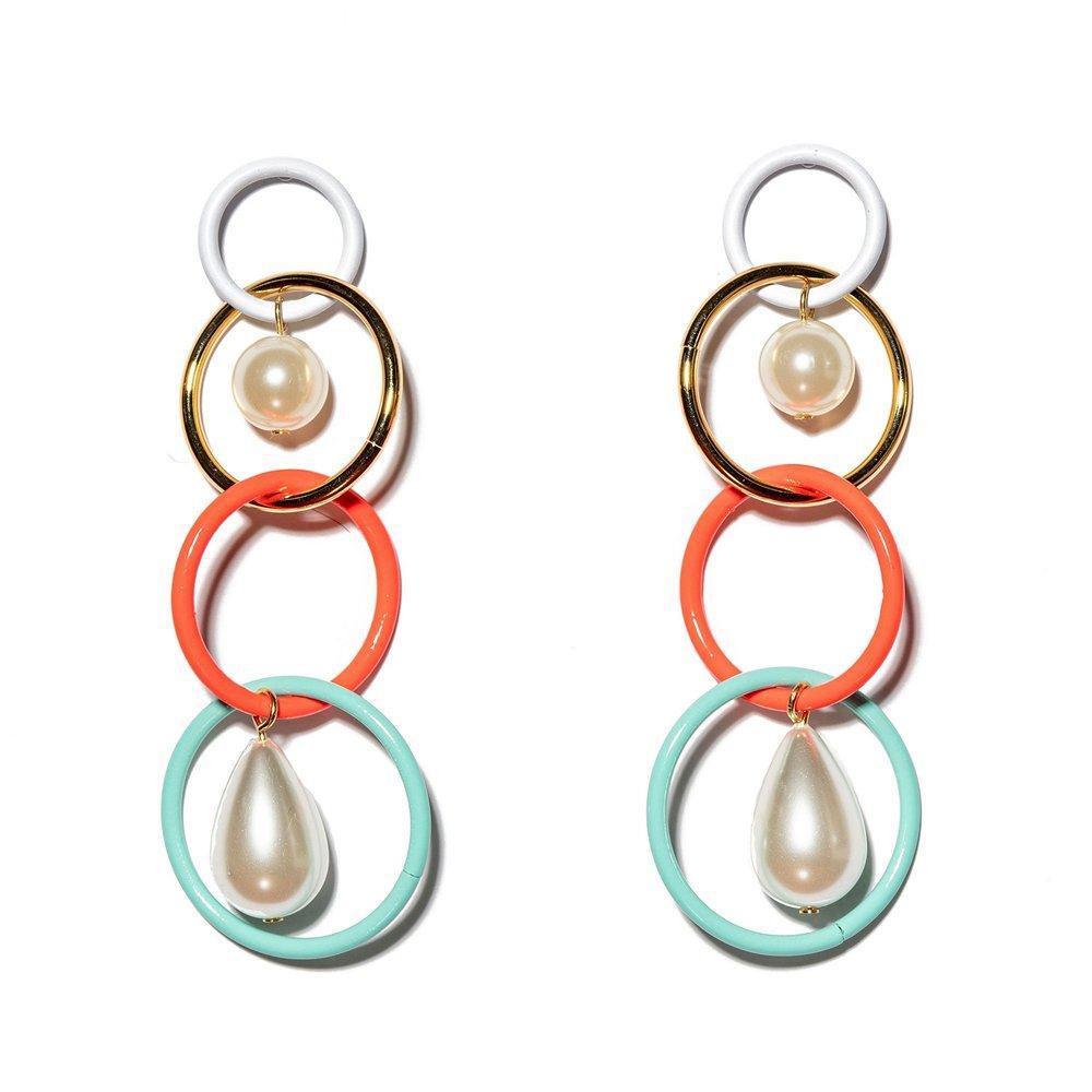 Teardrop Linear Earrings