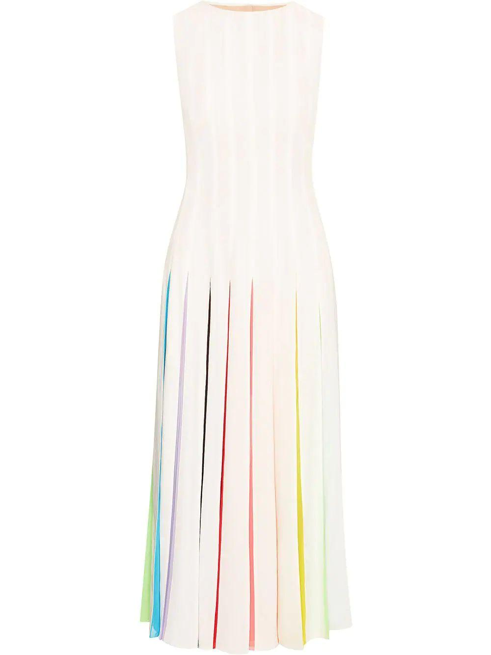 Multi Colored Pleated Dress