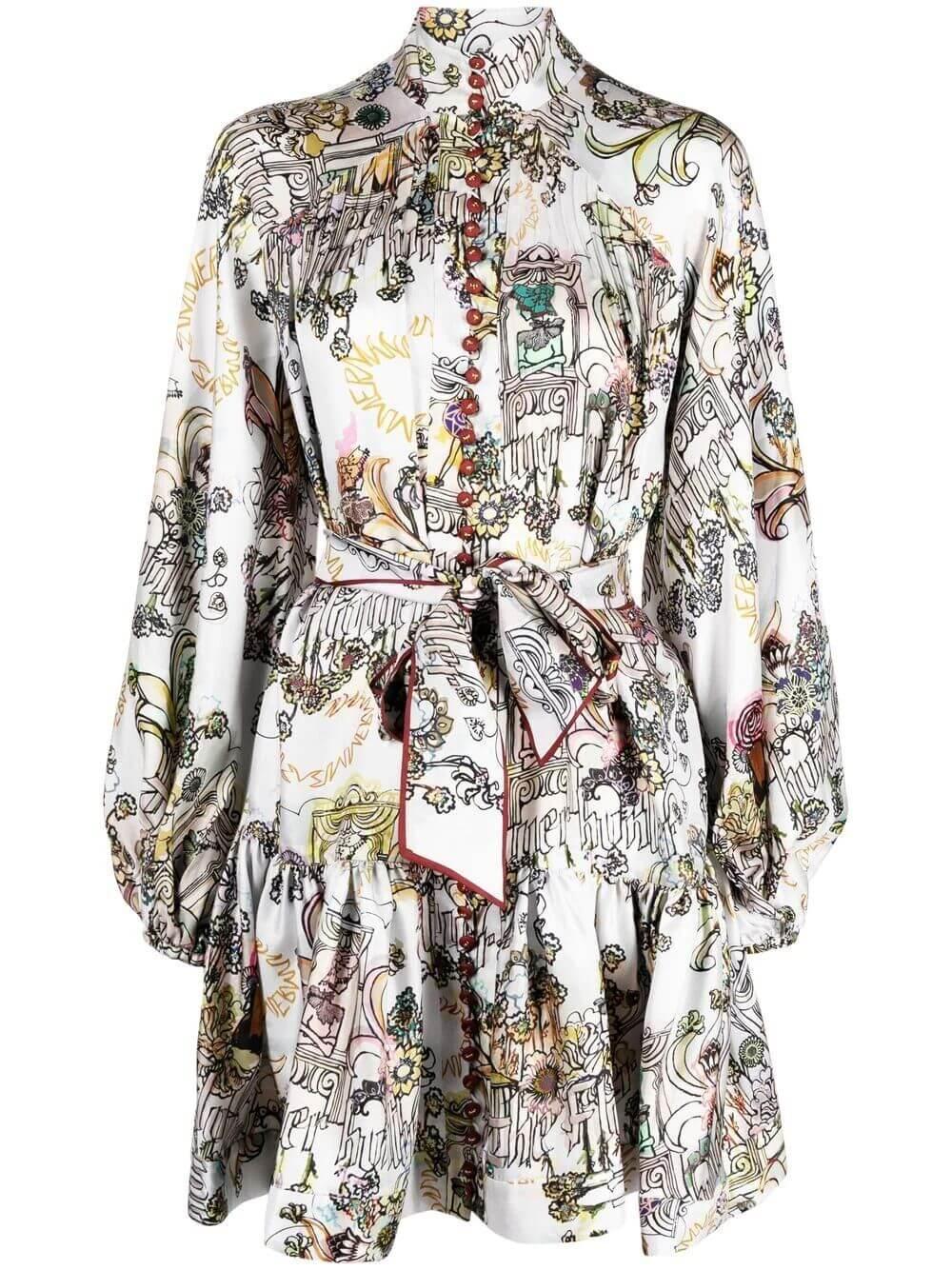 Botanica Lantern Mini Dress Item # 1471DBOT