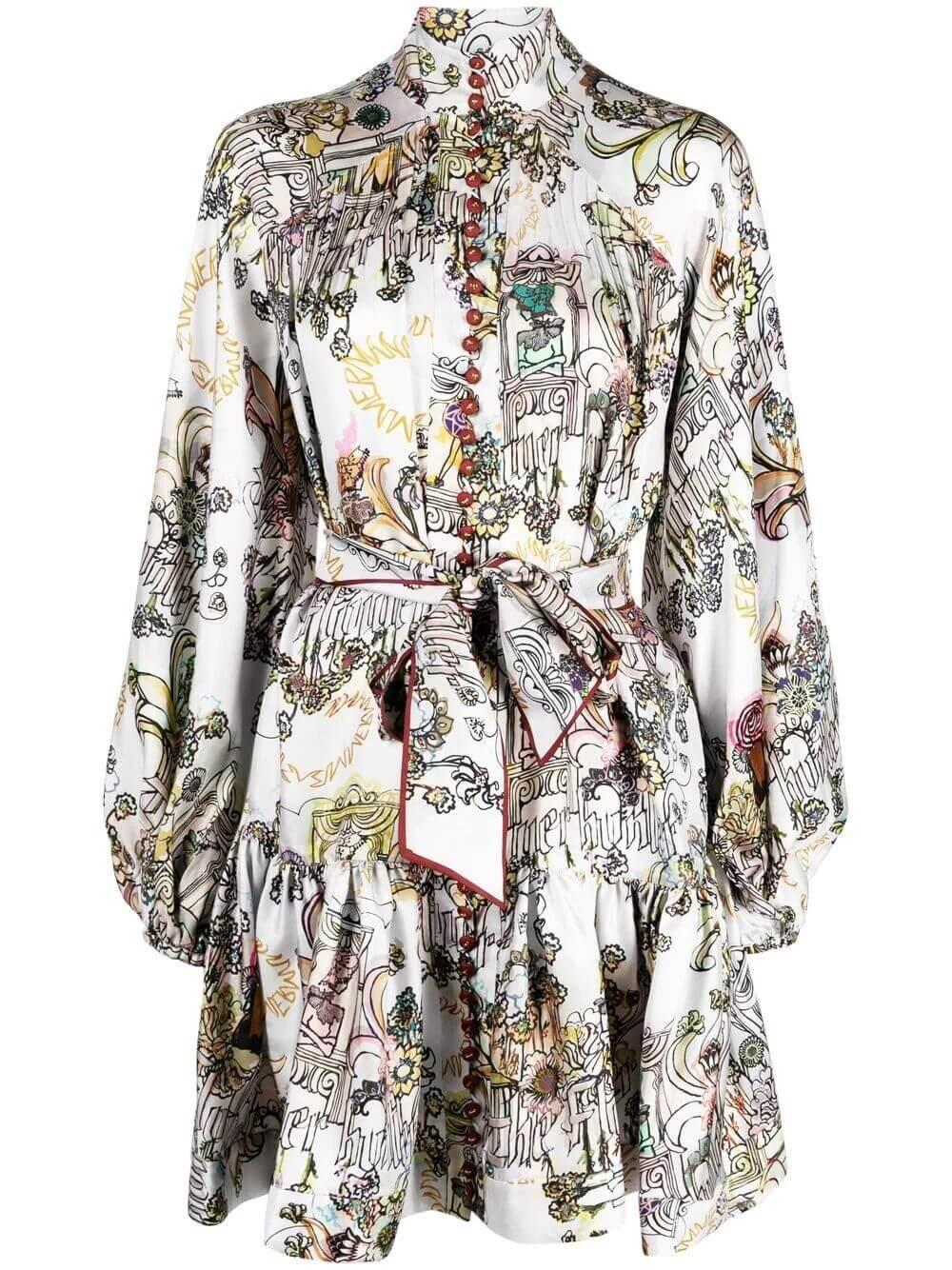 Botanica Lantern Mini Dress