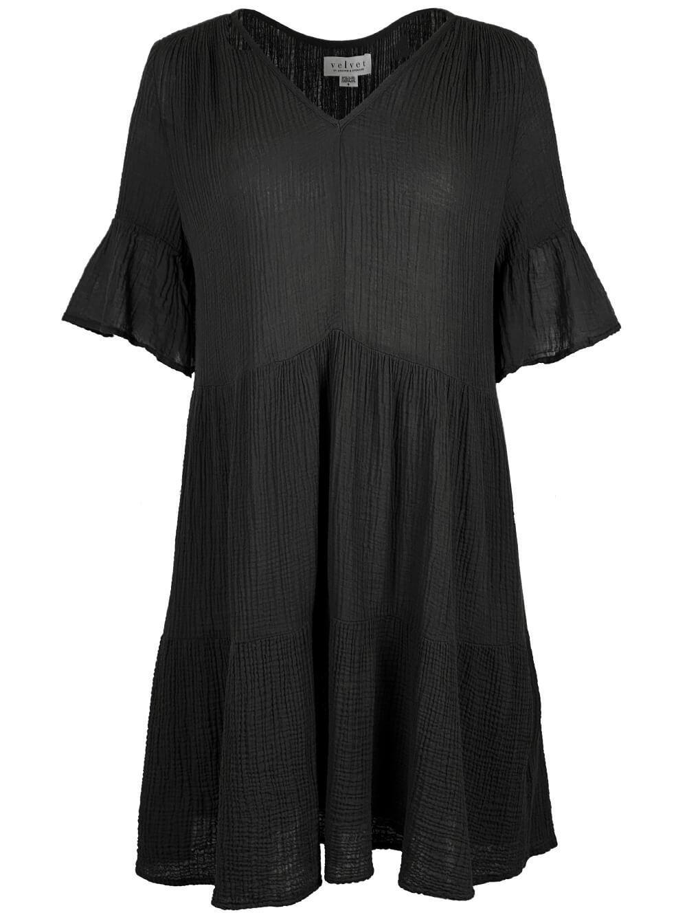 Tiered Cotton Gauze Dress Item # BRIANNE04