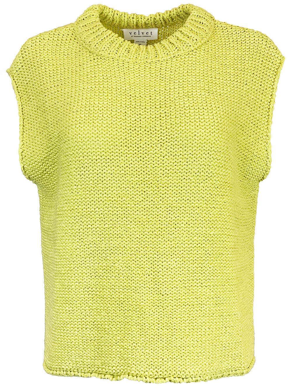Sleeveless Cotton Sweater