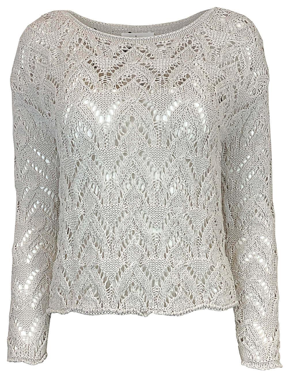 Cotton Open Crochet Sweater