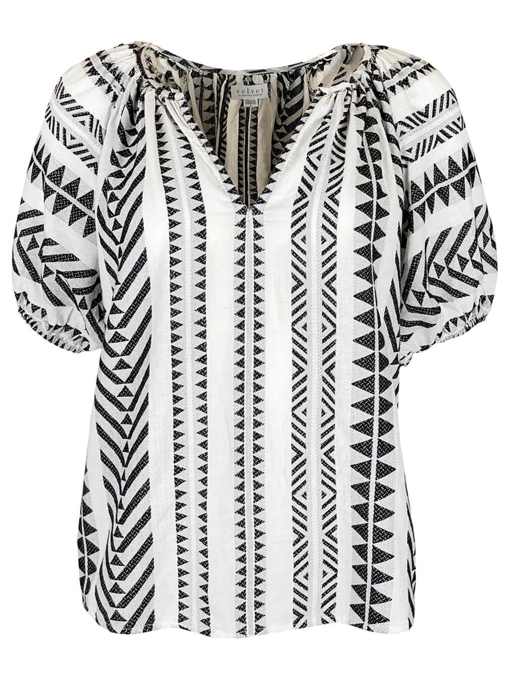 Jacquard Short Sleeve Top Item # ZARIA04