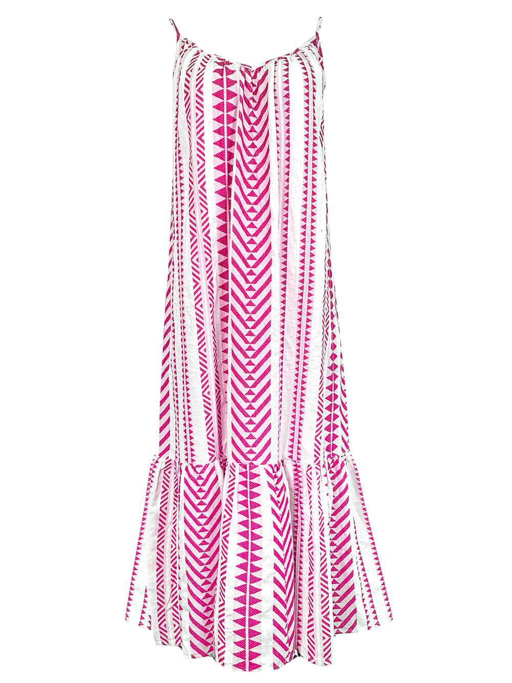 Dinae Jacquard Tiered Dress