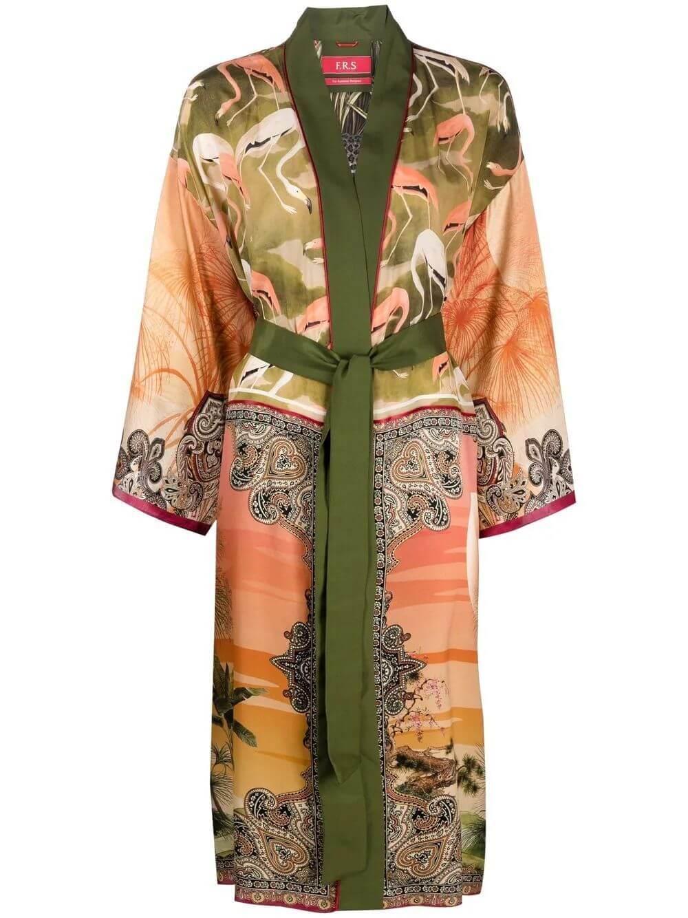 Metope Silk Twill Robe