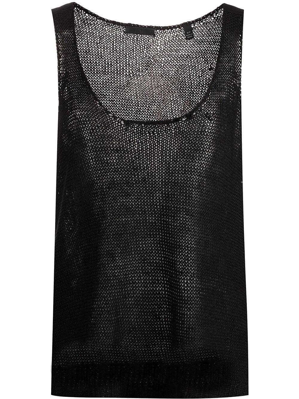 Linen Open Knit Tank