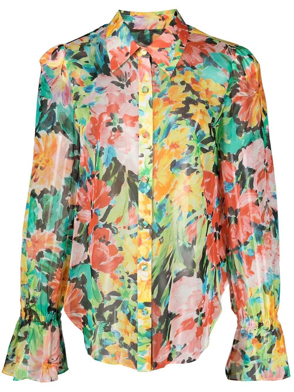Lacey Garden Floral Blouse