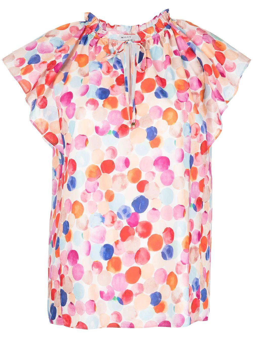 Leanne Watercolor Top
