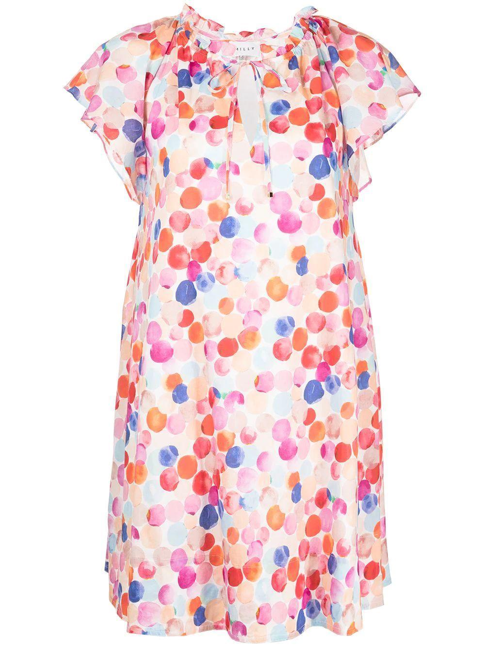Nadia Watercolor Dress