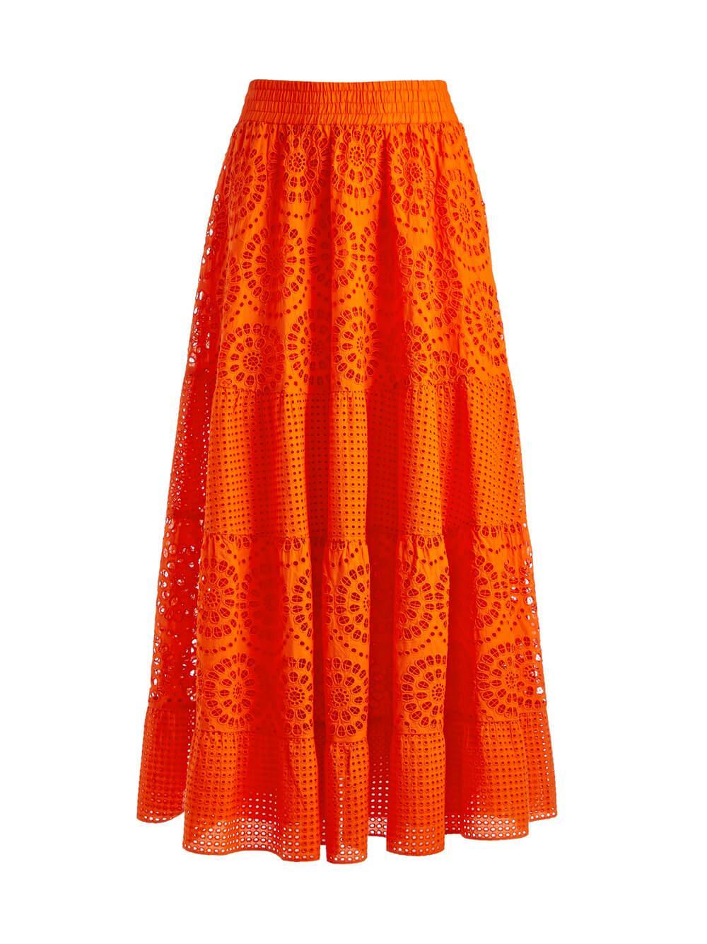 Melony Eyelet Skirt