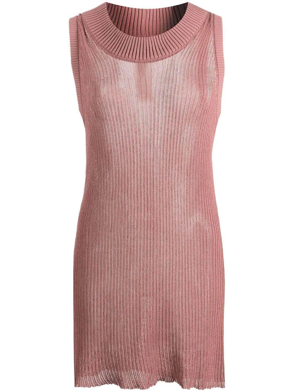 Long Sleeveless Knit Tank Item # RO21S3609