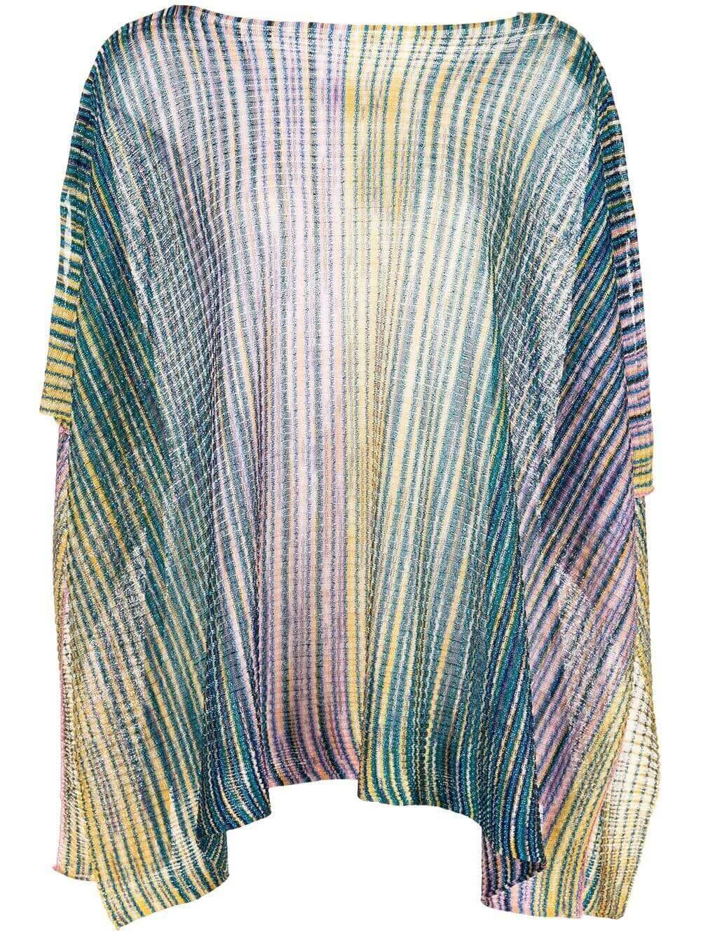 Striped Poncho Item # EP1FVMD7919