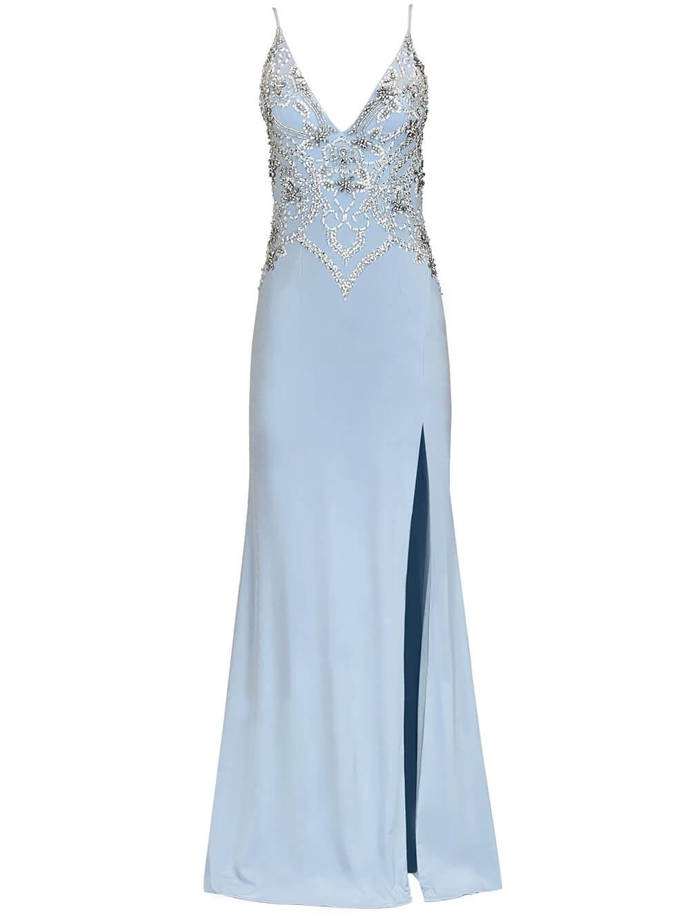 Embellished Jersey Gown Item # 54927