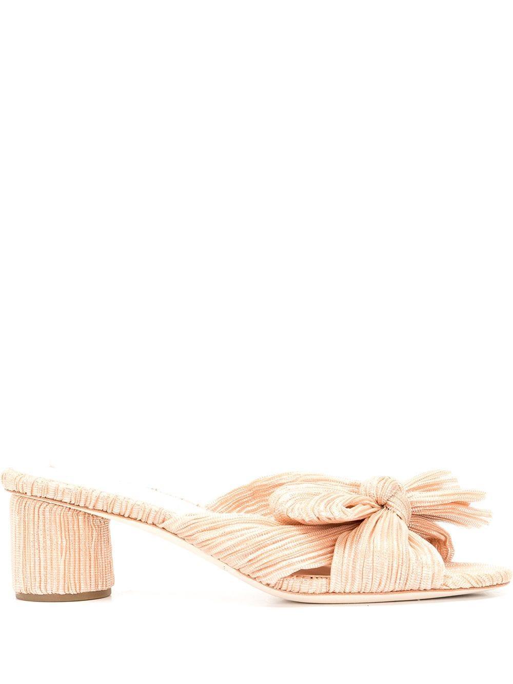 Pleated Knot Mule Item # EMILIA-PLA-S21