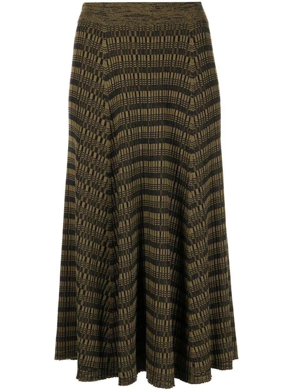 Geometric Knit Skirt Item # WL2127609