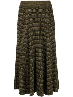 Geometric Knit Skirt
