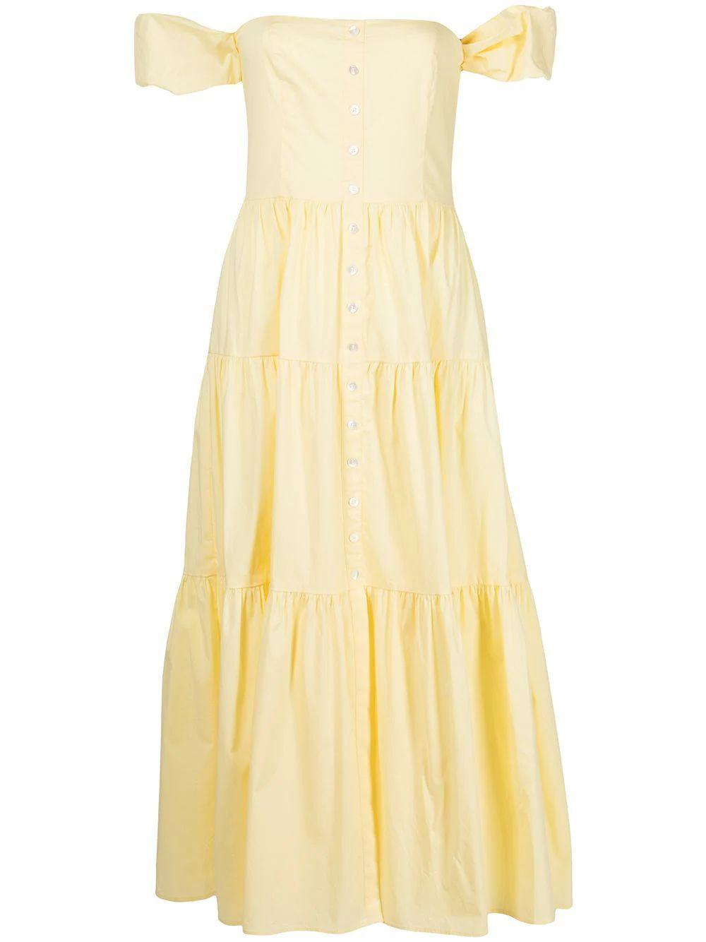 Elio Tiered Poplin Midi Dress