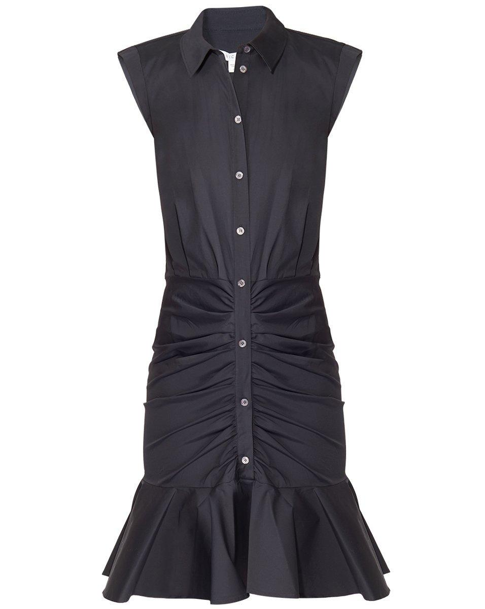 Bell Button Down Ruched Shirt Dress Item # CORESCP2305