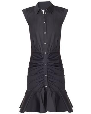 Bell Button Down Ruched Shirt Dress