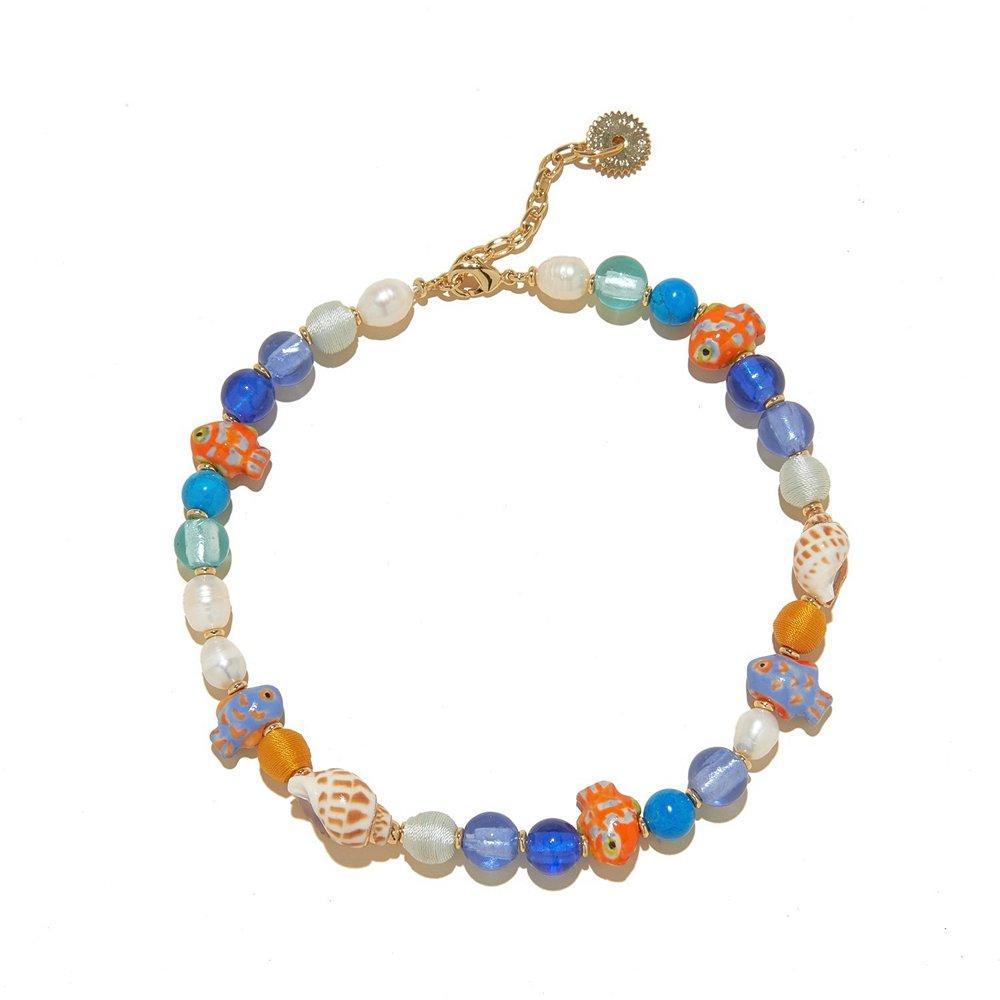 Bimini Glass Beaded Necklace Item # N163-981
