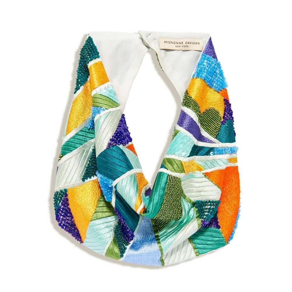 Paradise Palm Scarf Necklace Item # N172-981