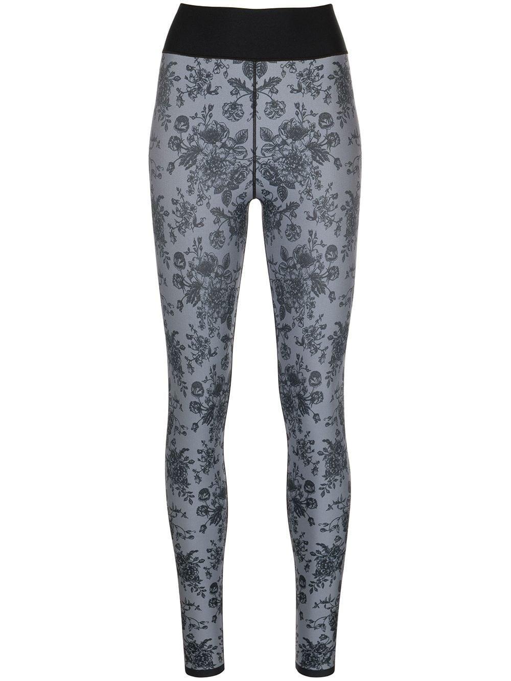 Floral Print Leggings Item # A221EM302SLKB-H2