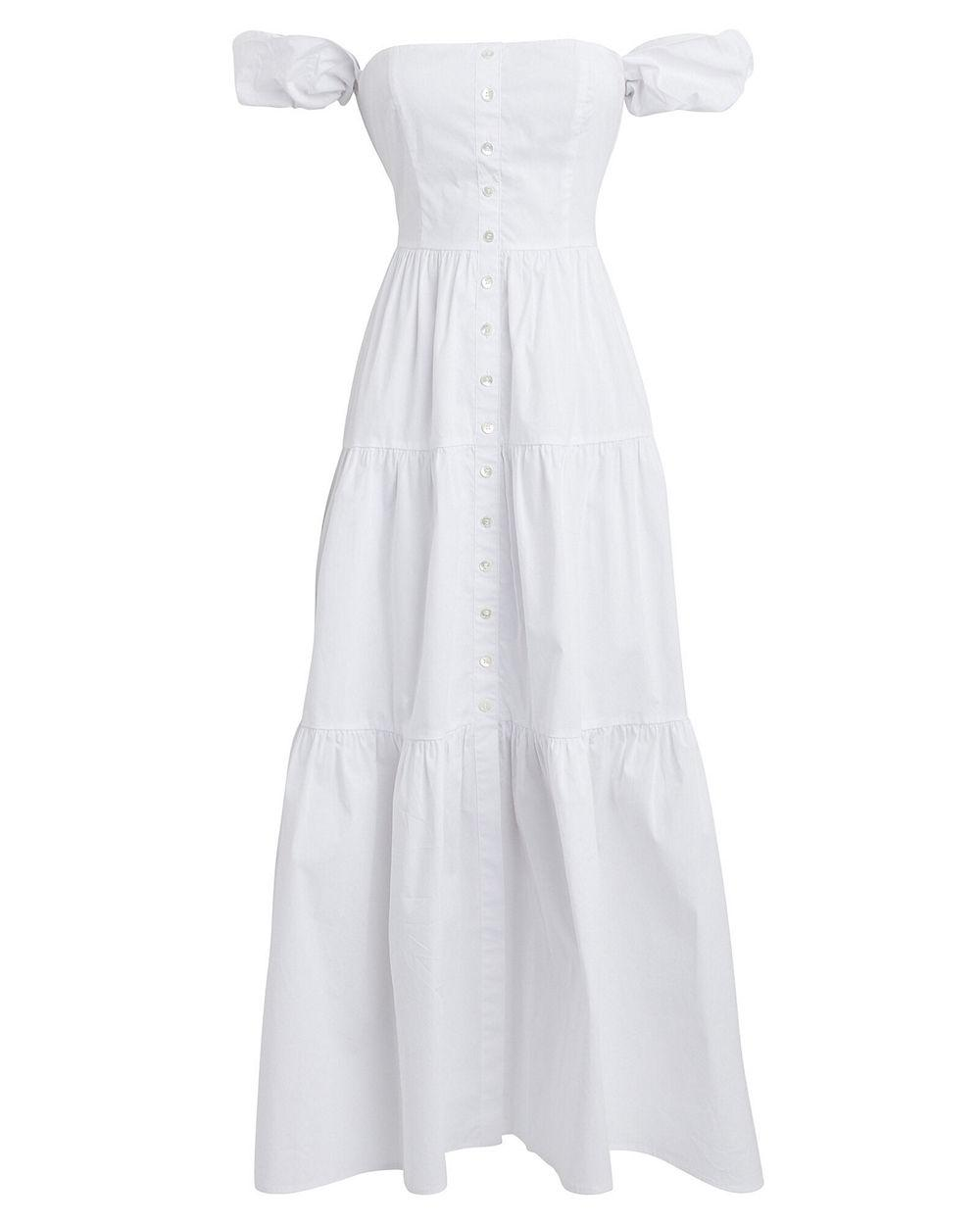 Elio Tiered Midi Dress Item # 90-7113-B