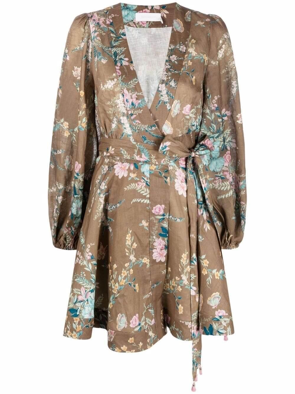 Cassia Wrap Dress