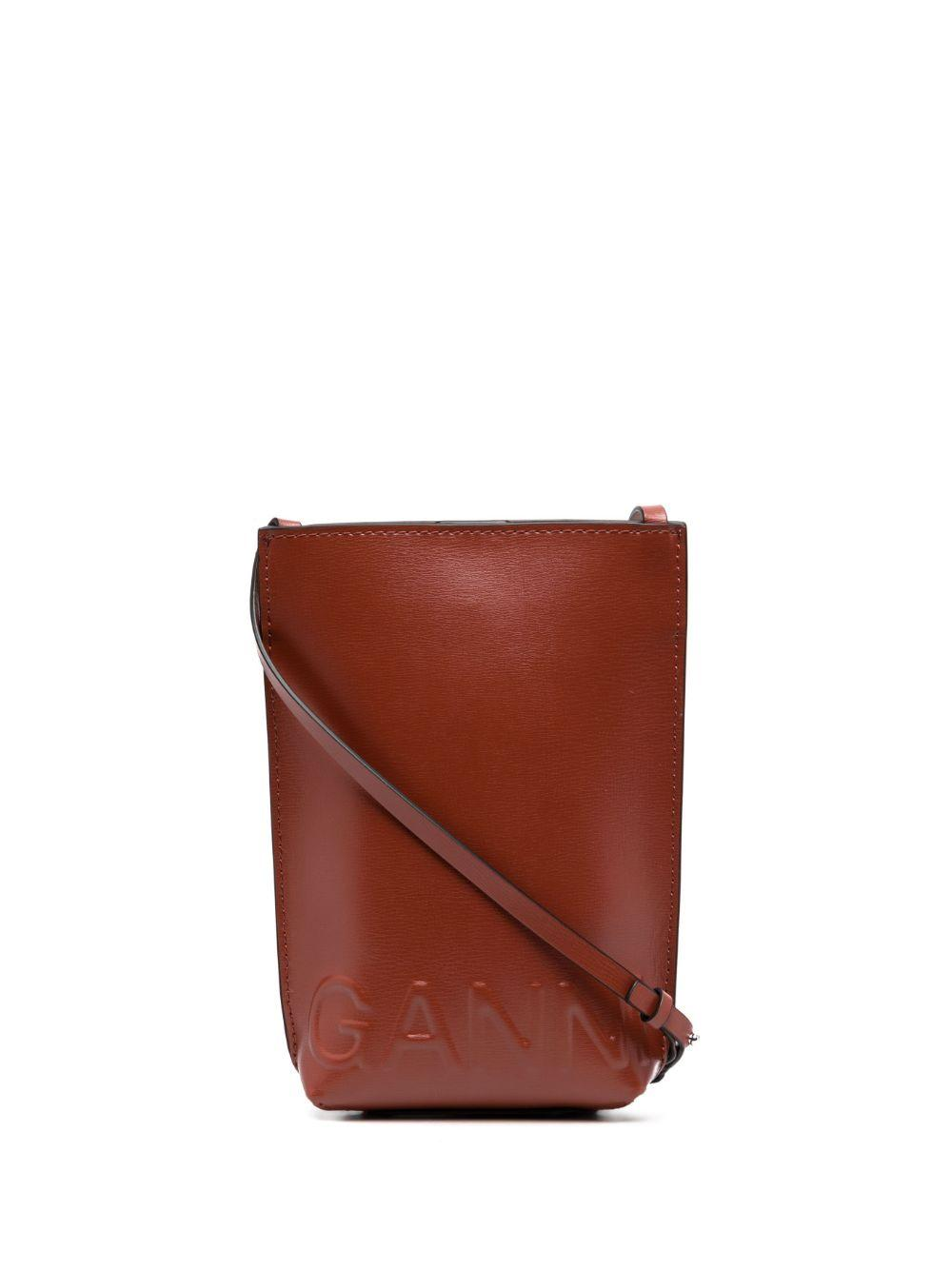 Logo Embossed Recycled Leather Crossbody