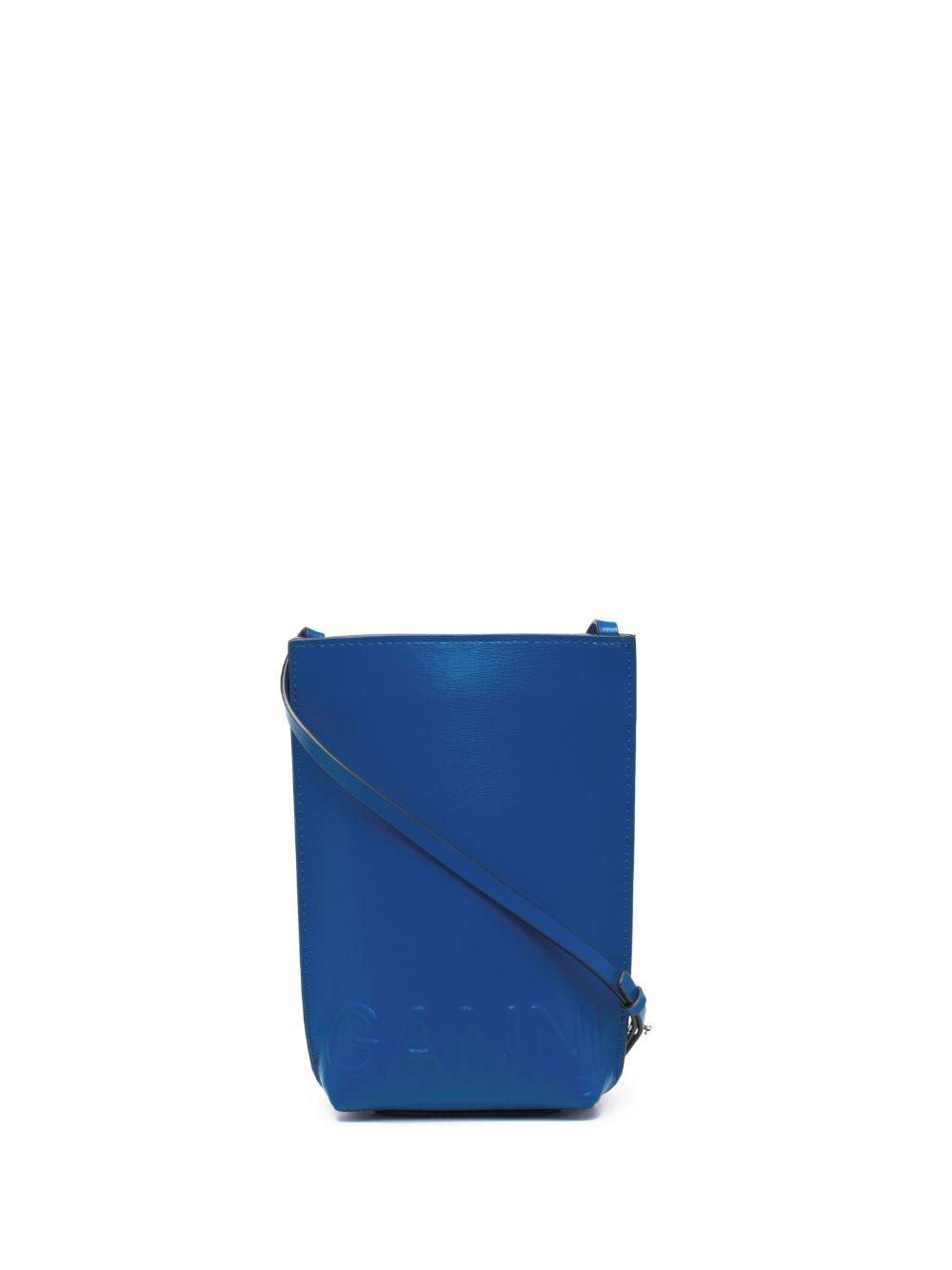 Logo Embossed Recycled Leather Crossbody Item # A3498