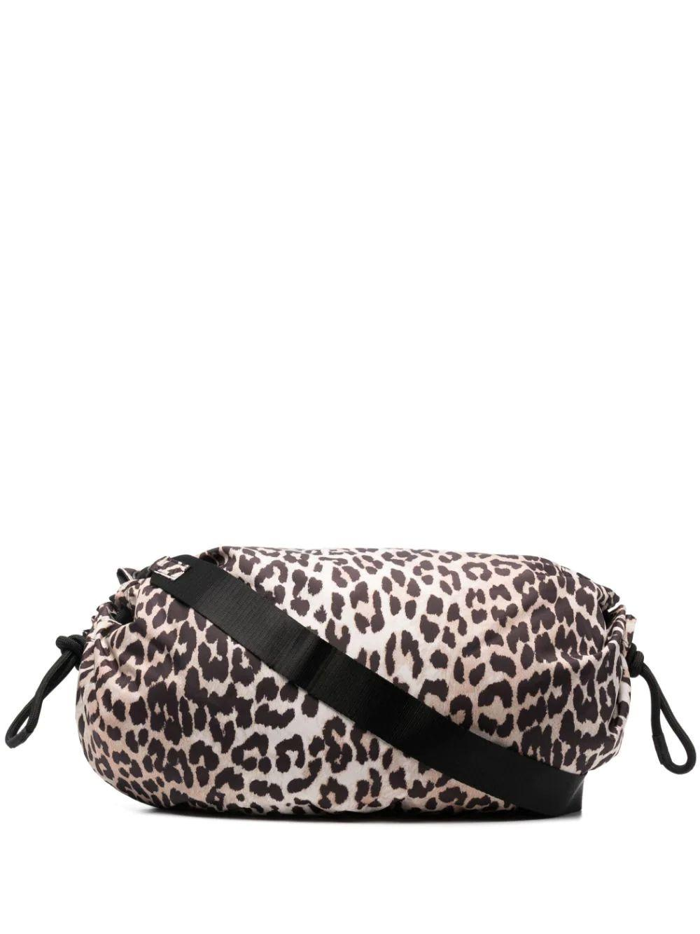 Recycled Tech Fabric Leopard Print Bag