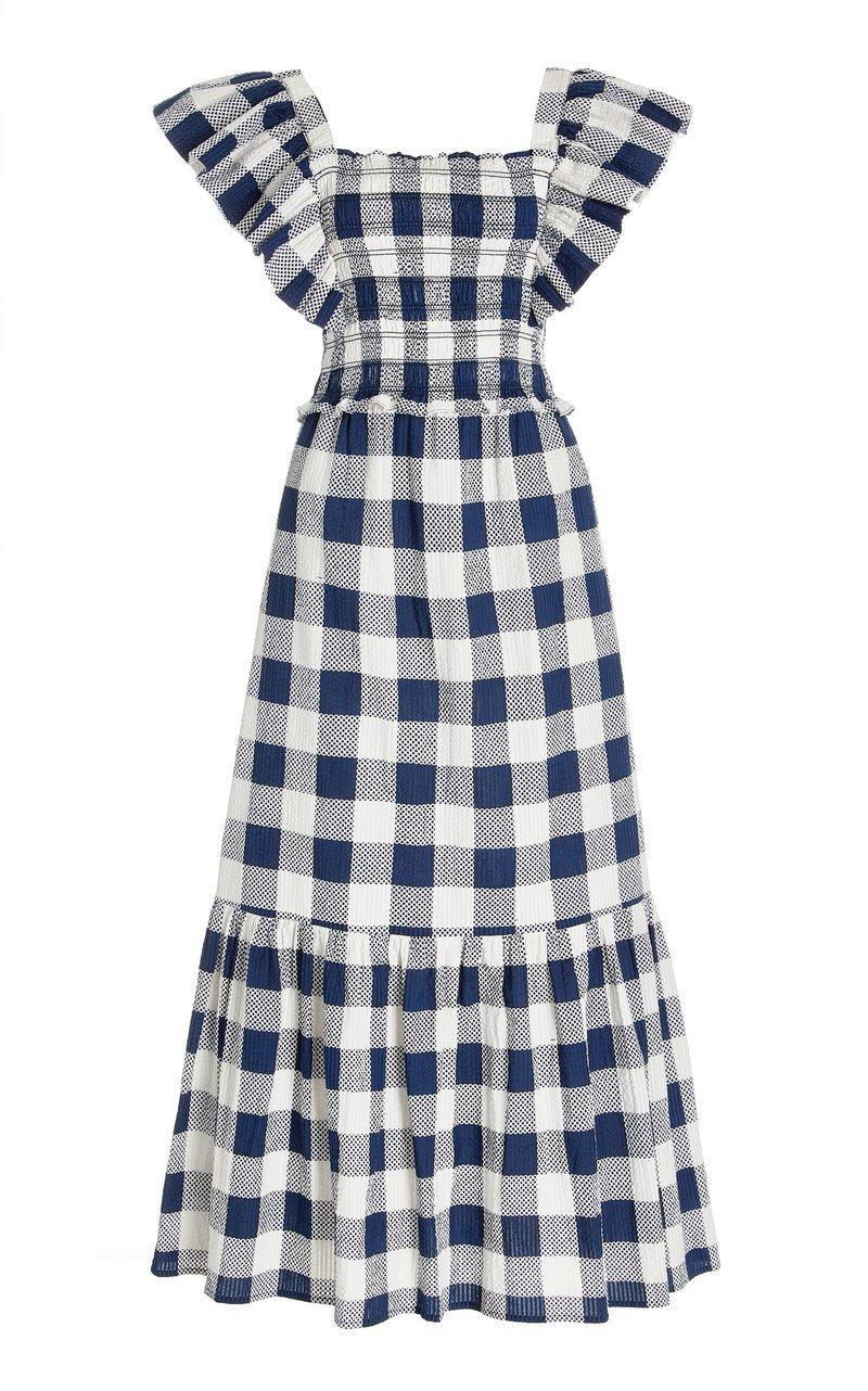 Morgan Plaid Maxi Dress Item # PF21-23121