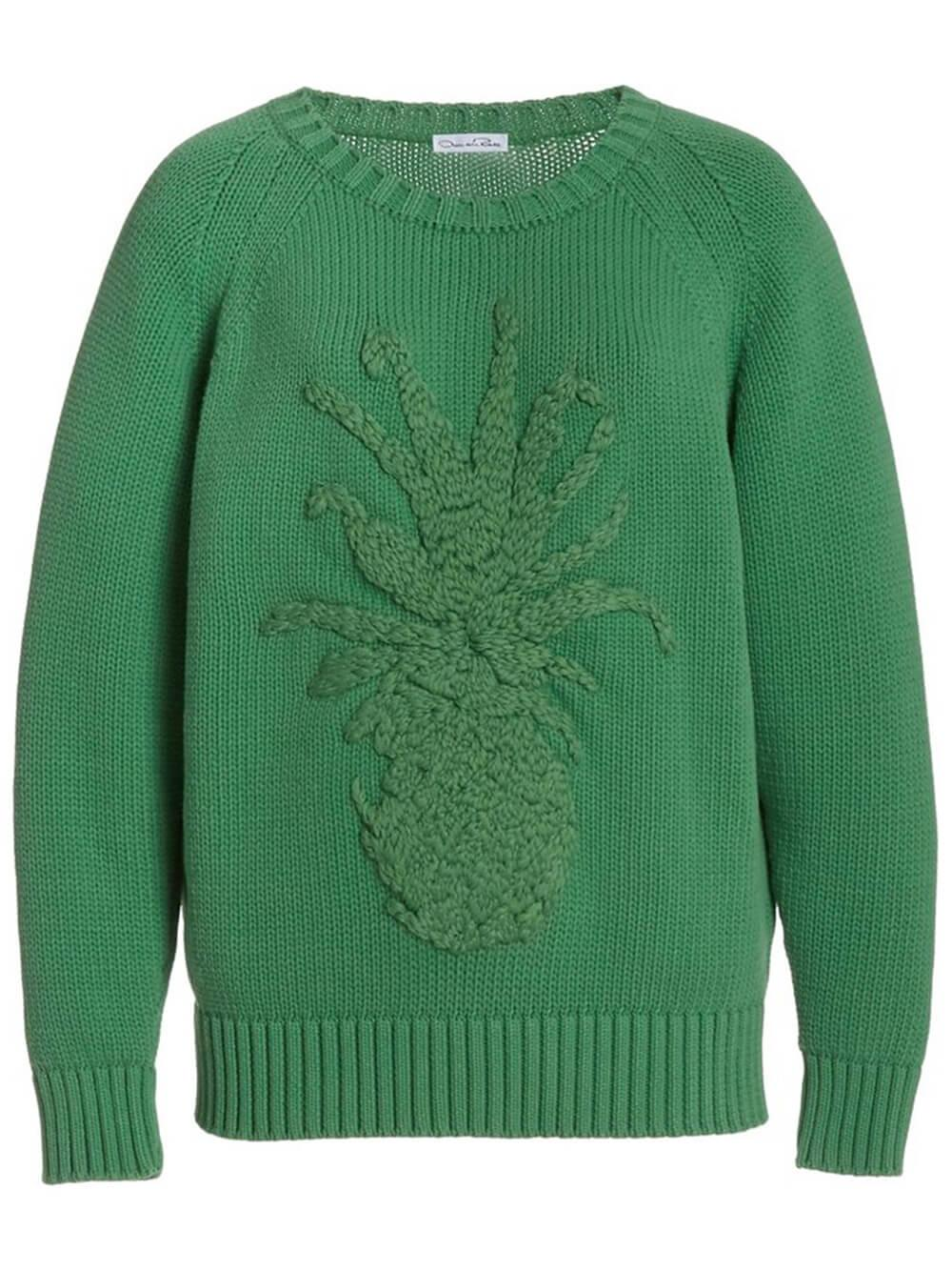 Embroidered Knit Sweater Item # 21PE170PIN