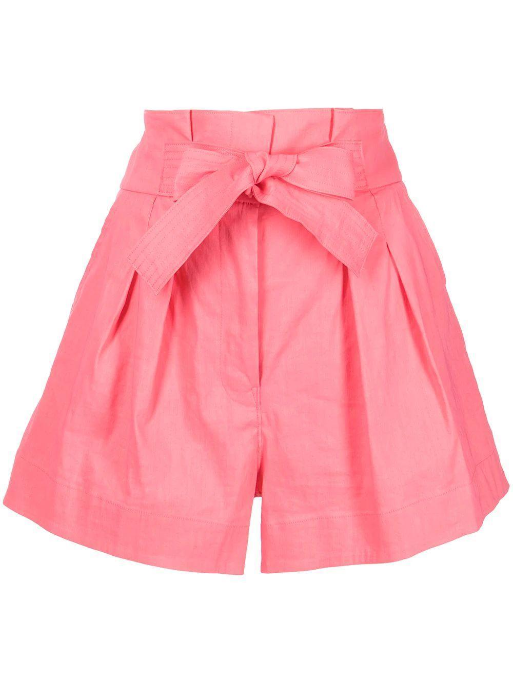 Joelle Tie Waist Pleated Shorts