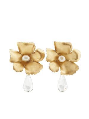 FLORA EARRING W/ HANGING DIAMOND