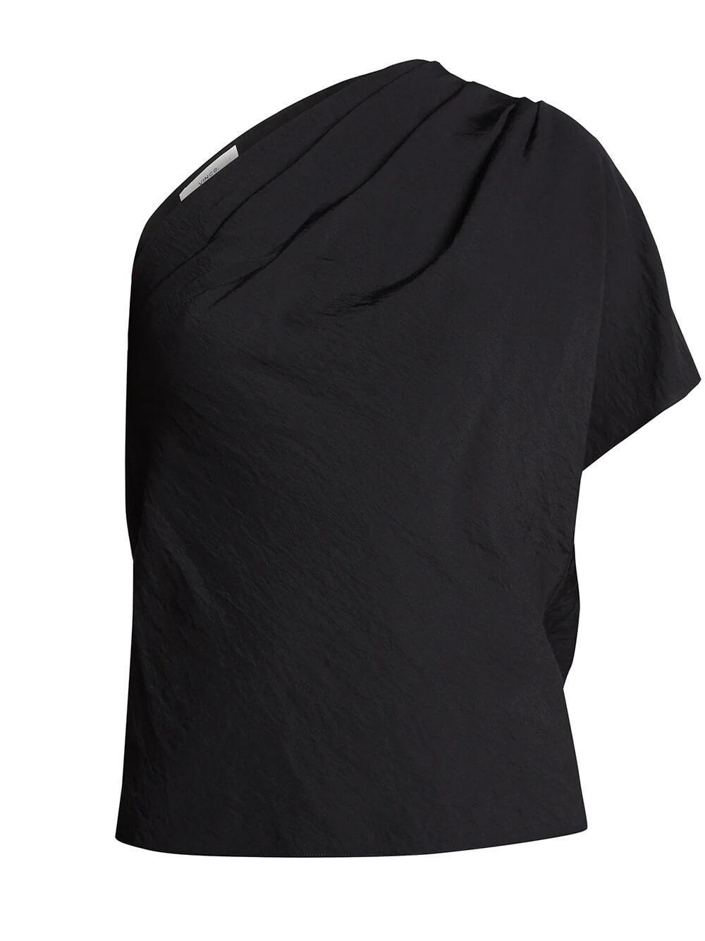 One Shoulder Cascade Drape Top