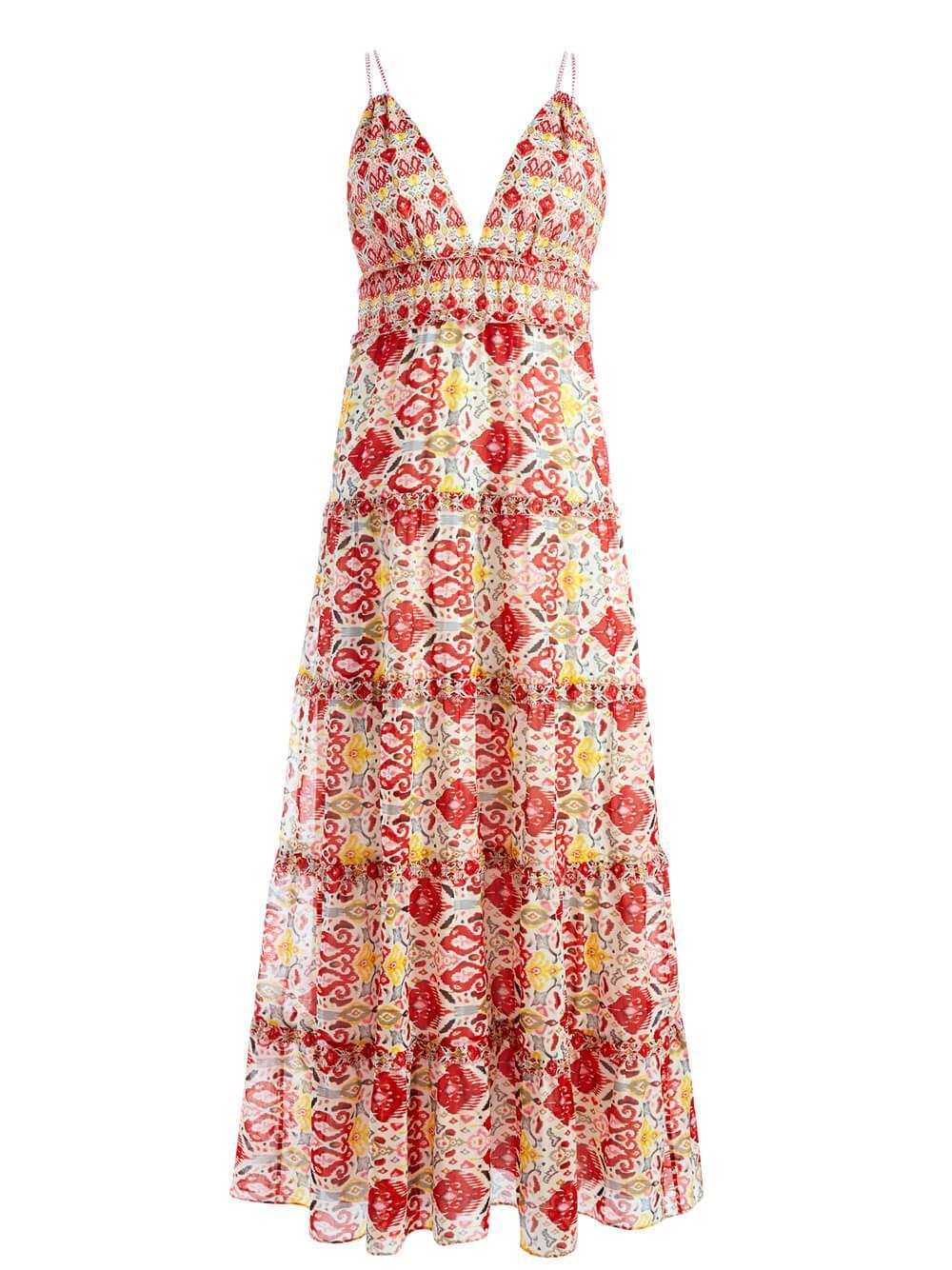 Karolina Printed Maxi Dress Item # CC106P19507