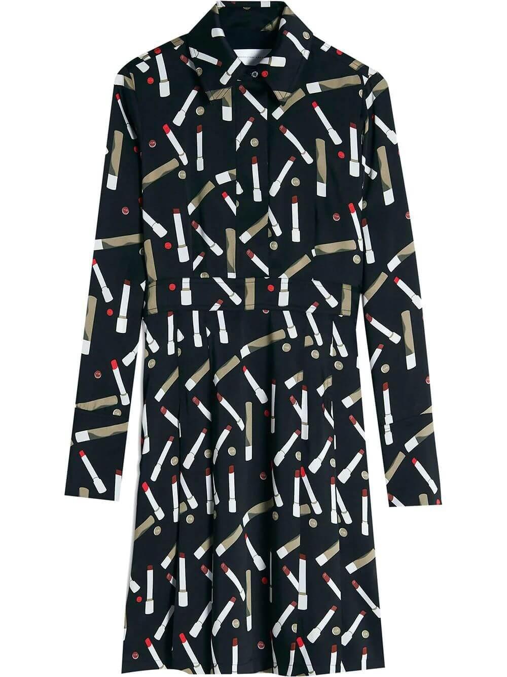 Pleated Shirt Dress