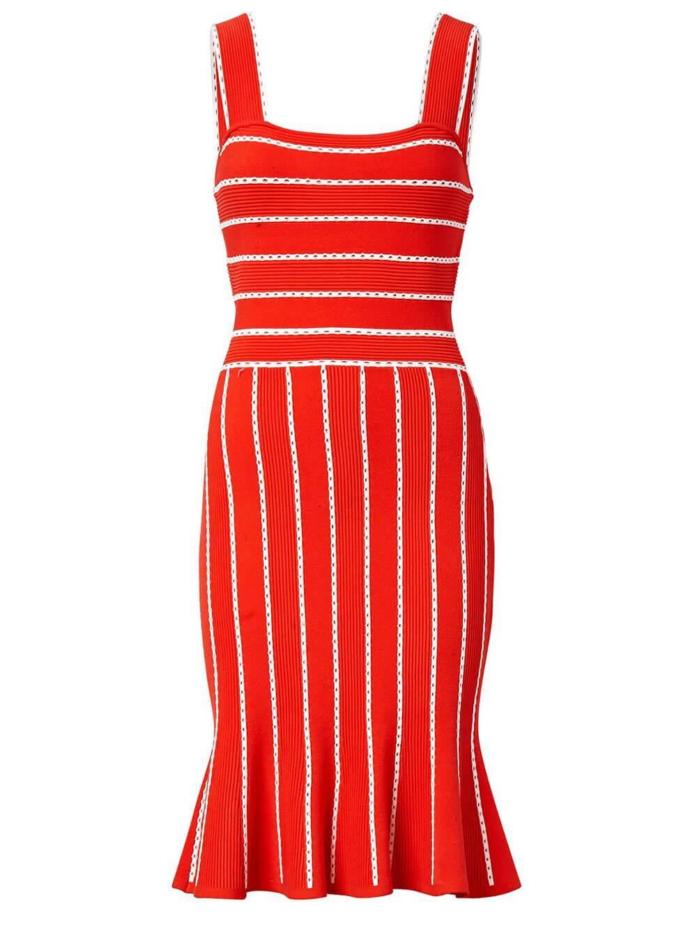 Biolor Striped Knit Dress