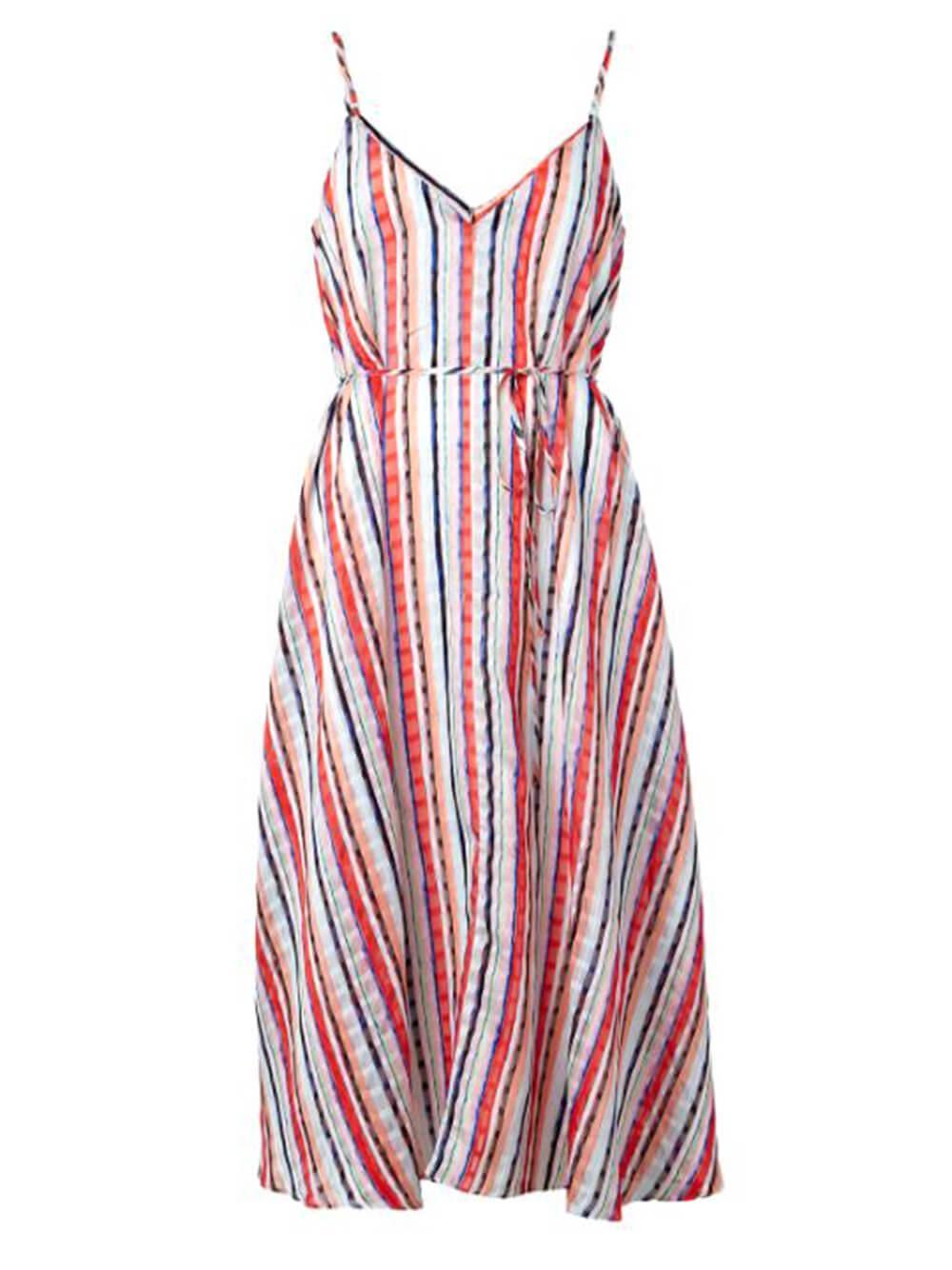 Becca Watercolor Stripe Dress