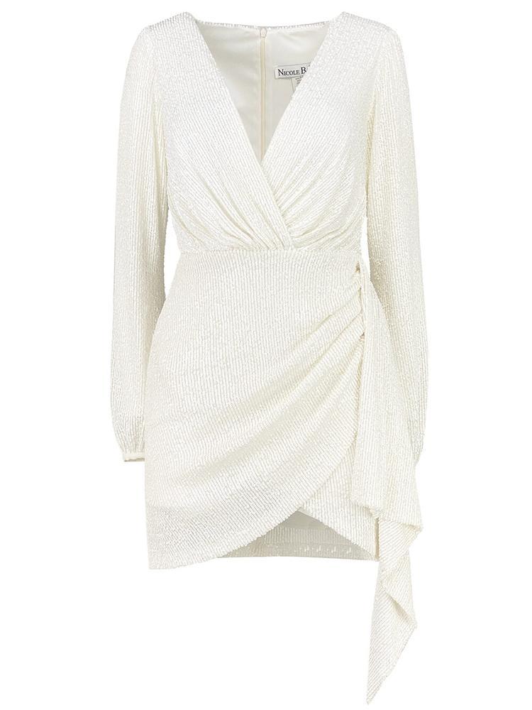 Sequin Mini Wrap Dress Item # 7040