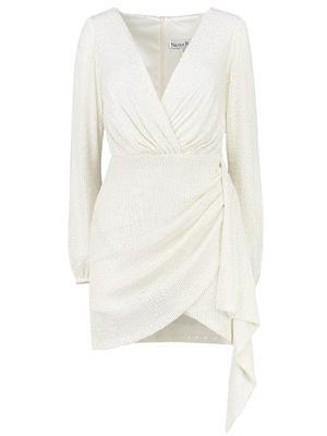 Sequin Mini Wrap Dress